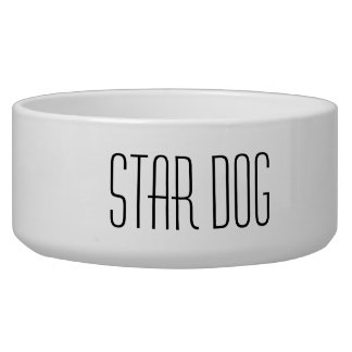 Star Dog Food Bowl
