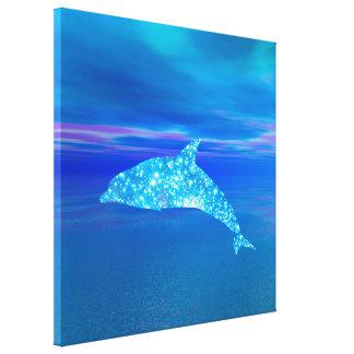 Star Dolphin Canvas Print
