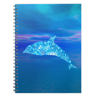 Star Dolphin Spiral Notebook