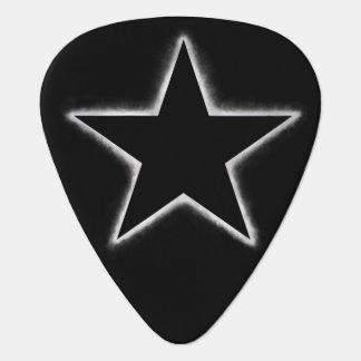 Star eclipse guitar pick