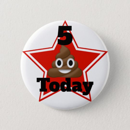 Star Emoji Poo Customisable Age 2 Inch Round Button