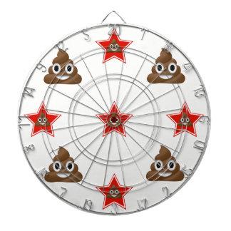 Star Emoji Poo Dartboard