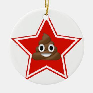 Star Emoji Poo Dble-sided Ornament