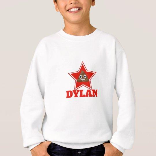 Star Emoji Poo Personnalised Sweatshirt