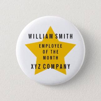 Star Employee of the Month Name | Company 2 Inch Round Button