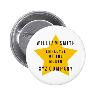 Star Employee of the Month Name   Company 2 Inch Round Button