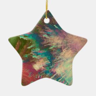 Star explode ceramic ornament