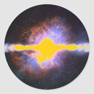 STAR EXPLOSION ROUND STICKER