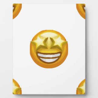 star eyes emoji plaque