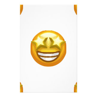 star eyes emoji stationery