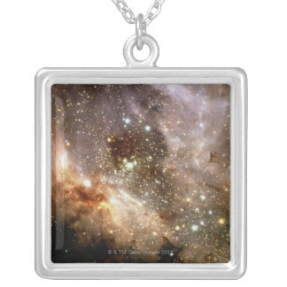 Star Field Silver Plated Necklace