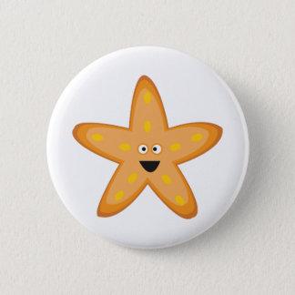 Star Fish 2 Inch Round Button