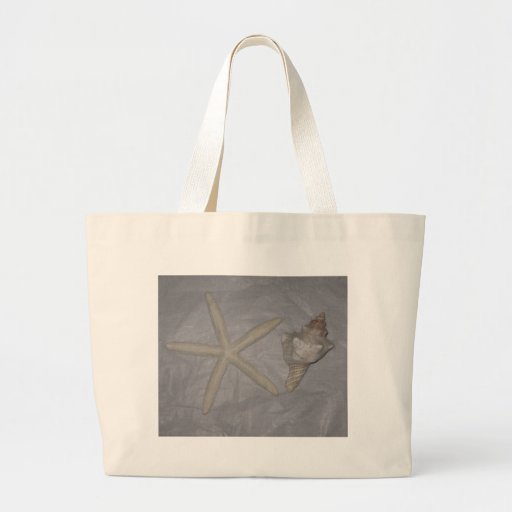 Star Fish and Seashell Canvas Bags
