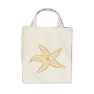 Star Fish Canvas Bags