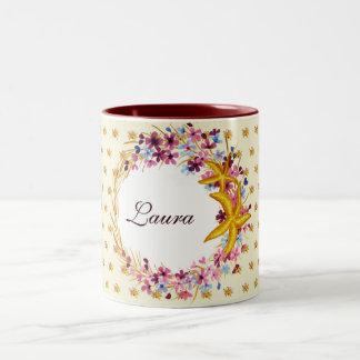 Star-fish Nautical Floral Elegant Two-Tone Coffee Mug
