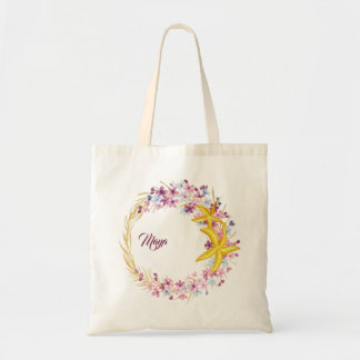 Star-fish Nautical Wreath Tote Bag
