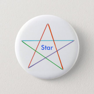 Star - five colored rainbow star reward buttons