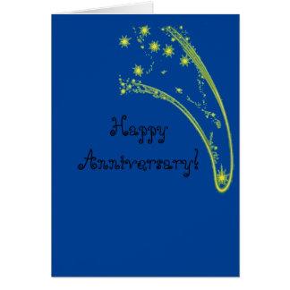 Star Flash Happy Anniversary Card