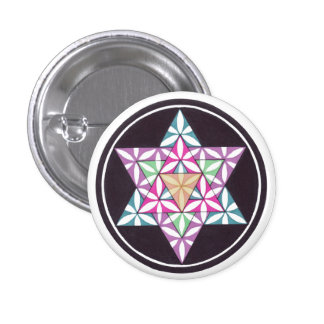 Star Flower 1 Inch Round Button