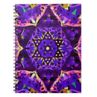 Star Flower Mandala in Purple Notebook