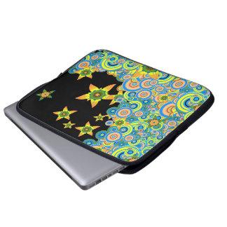 "Star Flower Vector  - 15"" Laptop Sleeve"