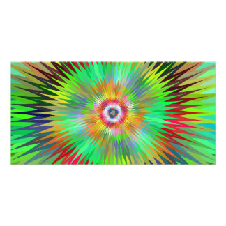 Star fractal personalized photo card