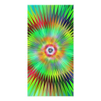 Star fractal custom photo card