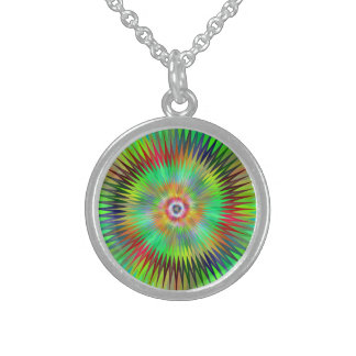 Star fractal sterling silver necklace