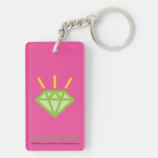 STAR*FROG™ Gem Double-Sided Rectangular Acrylic Keychain