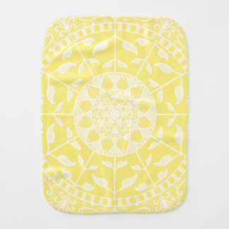 Star Fruit Mandala Burp Cloth