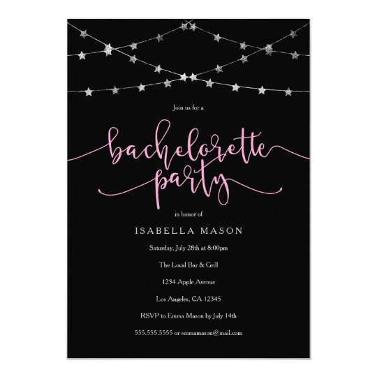 Star Garland   Bachelorette Party Invitation