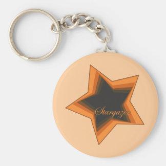 Star Gazer Gazing Up To The Stars In the Night Sky Keychain