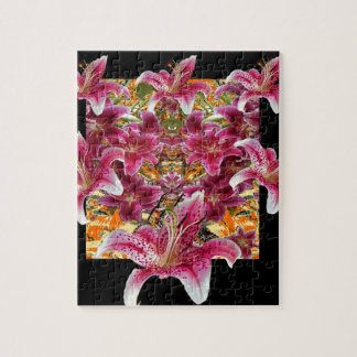 star gazer lilies floral art jigsaw puzzle