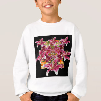 star gazer lilies floral art sweatshirt