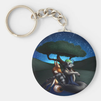 Star Gazing Basic Round Button Keychain