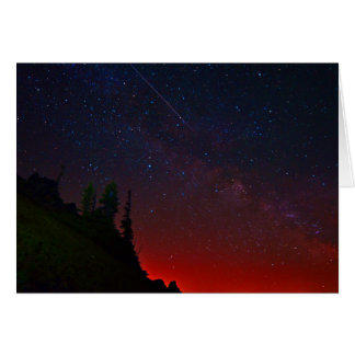 Star Gazing - Beautiful Night Sky Scene Card