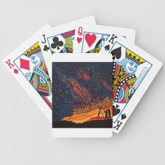 Star gazing bicycle playing cards
