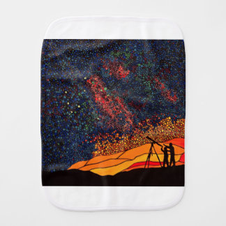 Star gazing burp cloth