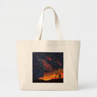 Star gazing large tote bag
