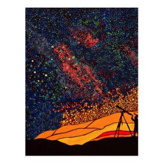 Star gazing postcard