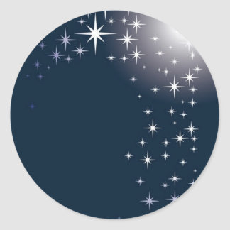 star gazing round sticker