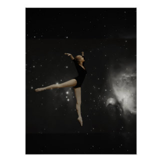 Star Girl Ballerina and Orion Nebula Posters