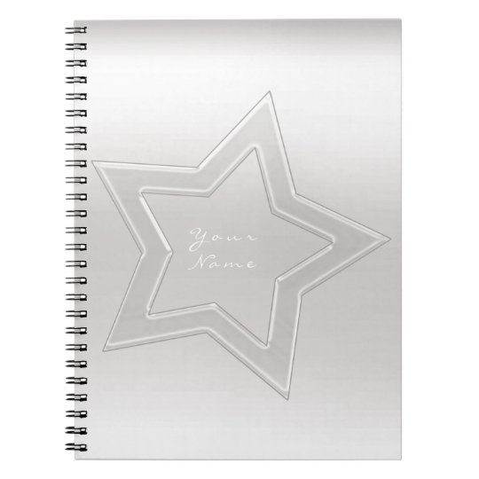Star Glass Ombre White Grey Silver Minimal Notebooks