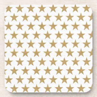 Star Gold pattern with cotton texture Coaster