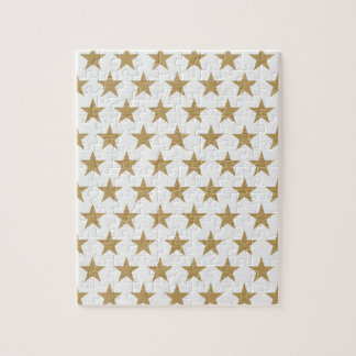 Star Gold pattern with cotton texture Jigsaw Puzzle