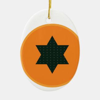 star half fruit ceramic ornament