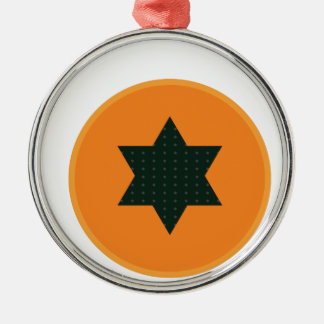 star half fruit metal ornament