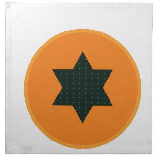 star half fruit napkin