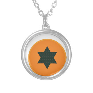star half fruit silver plated necklace