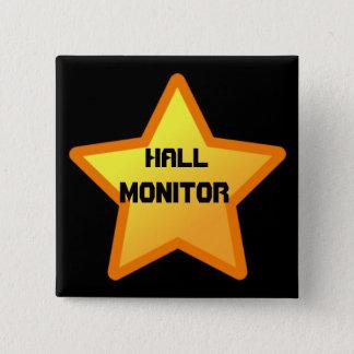 star, Hall, Monitor 2 Inch Square Button